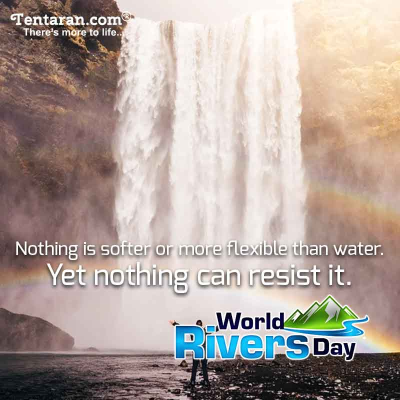 Happy World Rivers Day poster