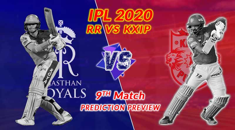 IPL RR Vs KXIP 9th match Indian premier league 2020