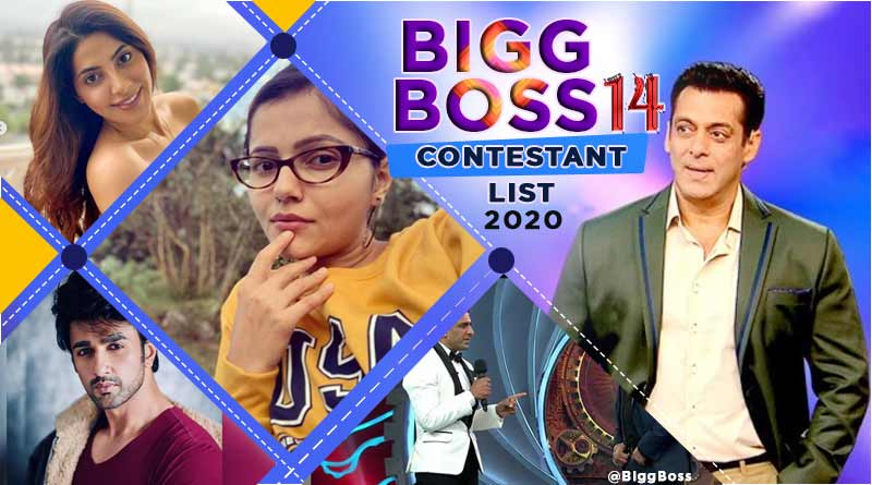bigg boss 14 contestants list 2020 with photo name list