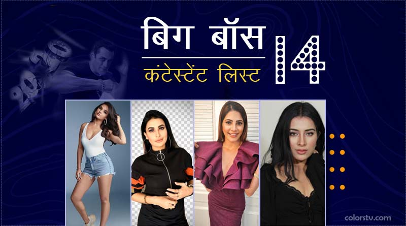 bigg boss 14 contestants list in hindi image