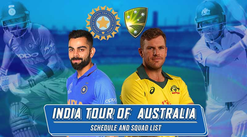 india vs australia test odi t20i squad schedule 2020