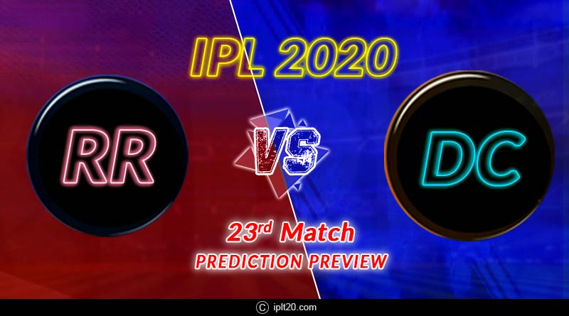 ipl 2020 rr vs dc 23rd match