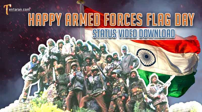happy indian armed forces flag day status video download