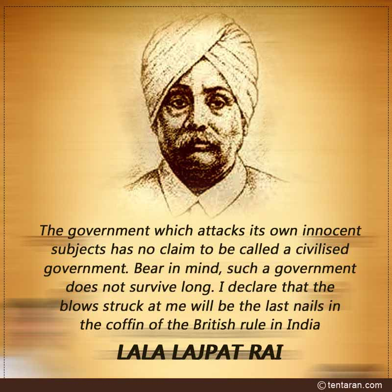 lala lajpat rai jayanti messages wishes images