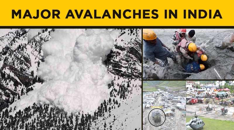 major avalanches in india
