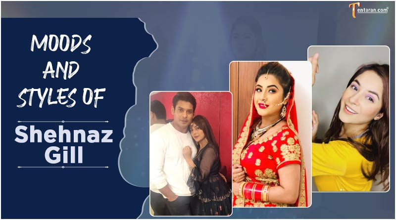 moods and styles of Shehnaz Gill sidnaaz pics