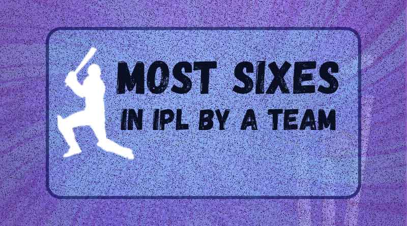most sixes in ipl by team in ipl history