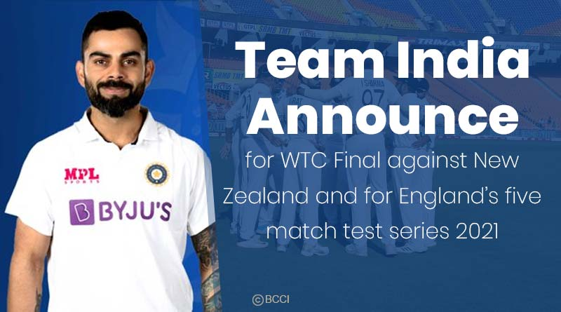 team india squad for wtc final 2021