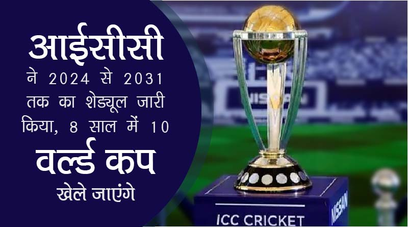 ICC cricket schedule 2024 to 2031 in hindi