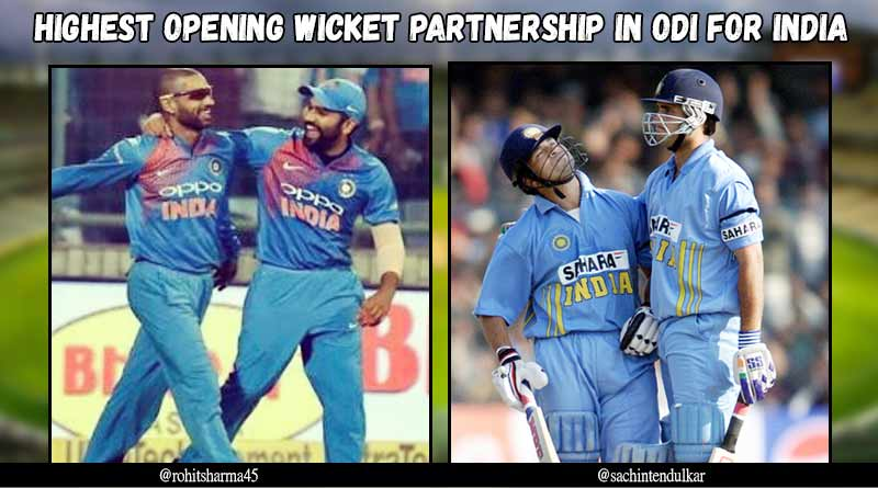 highest opening wicket partnership in odi for india