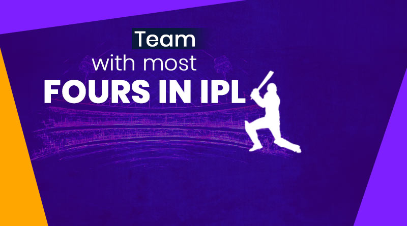 most fours in ipl by a team