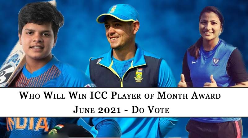 icc player of the month award june 2021