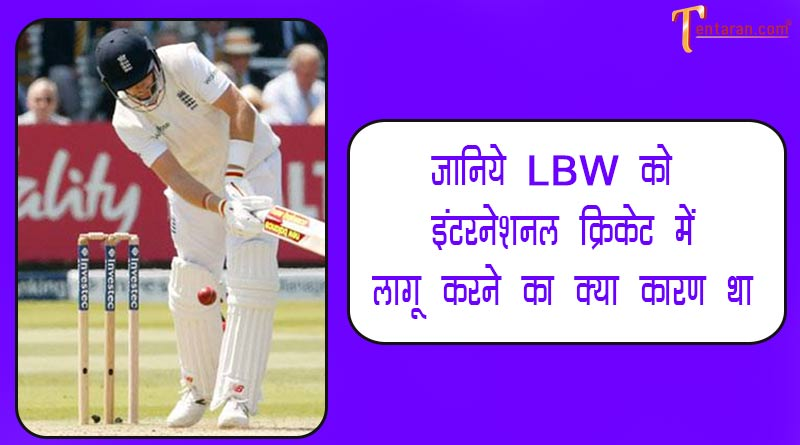 why lbw is out in cricket in hindi