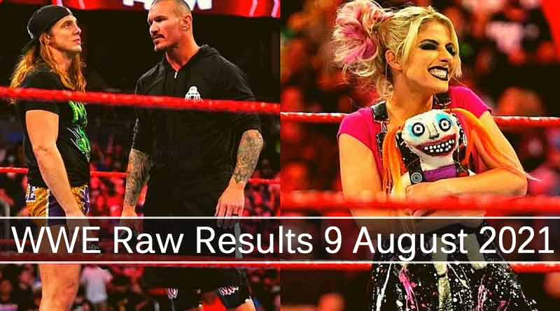wwe raw results 9 august 2021