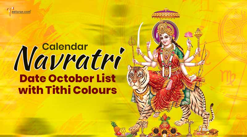 Calendar Navratri 2021 date october list with tithi colours