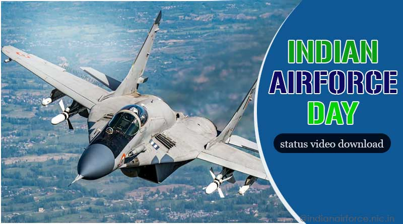 indian air force day whatsapp status video download